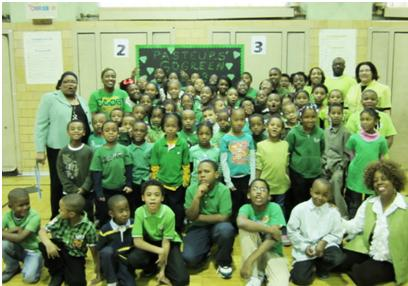 The Pasture Elementary Green Gems celebrate Green Day
