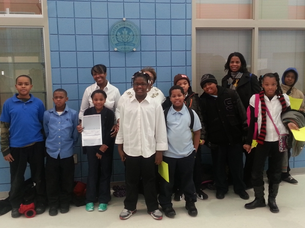 Gompers Elementary Receives Grant Check