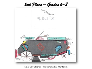 Solar City Cleaner-Second Place Grades 6-8
