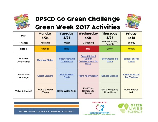 Earth Week Activities 2017 FINAL