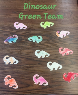 This week, Keidan Special Education Center named their green team as well as decorating their new name tags. So let's give a huge Go Green Challenge welcome to the DINOSAUR green team. The Green Team has been loving their lessons and it shows with their colorful name tags. The Sustainability Coordinators at Keidan is Ms. Cools.